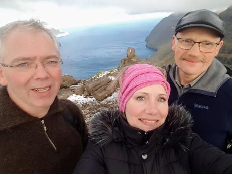 Sjálvandi eina selfie uppi á Middagsfjalli